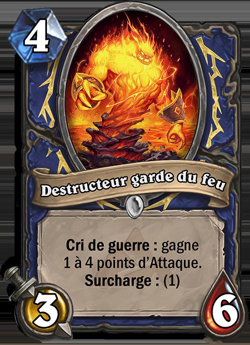 Destructeur garde du feu
