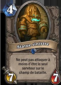 Statue sinistre