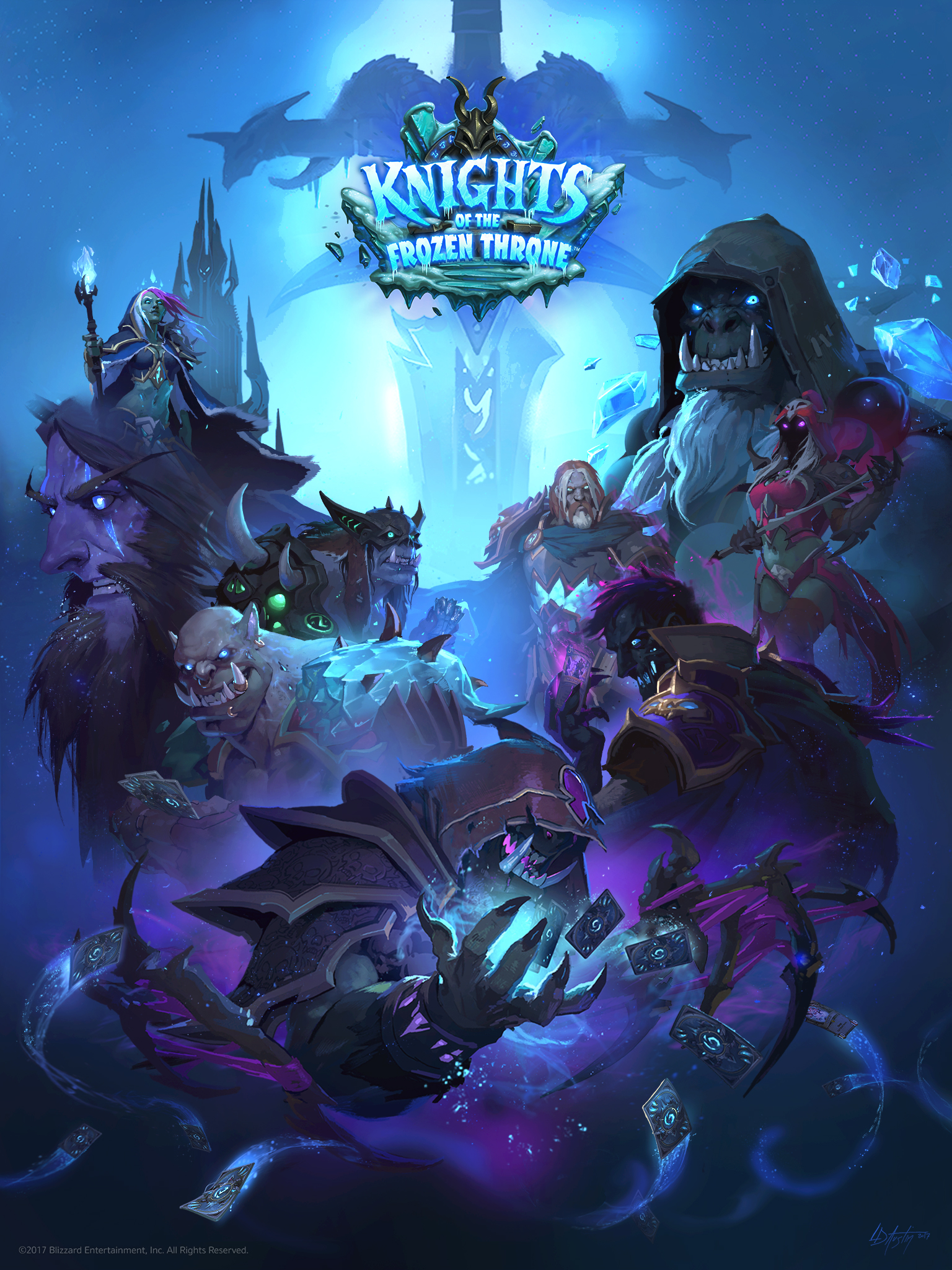 Who Is The Artist For The Knights Of The Frozen Throne Death