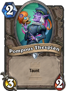 Pompous Thespian